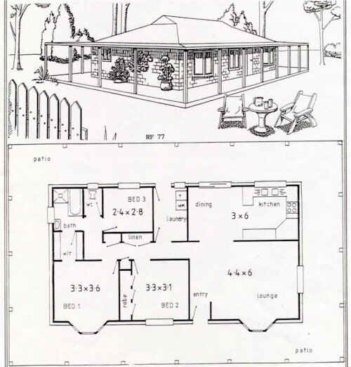 Australian Steel Frame Housing Floor Plan Rf 77