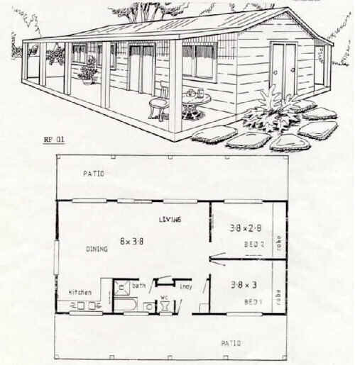 Australian Steel Frame Housing Floor Plan Rf 01